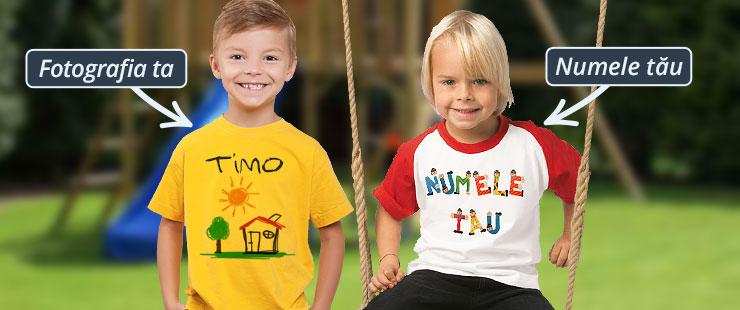 O bucurie pentru copii – un tricou personalizat